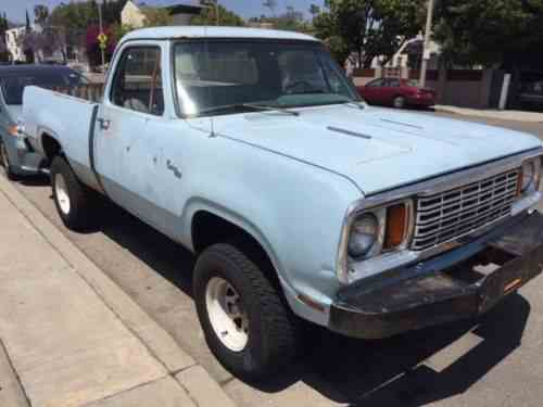 Dodge Power Wagon W150 1978 78 Dodge Power Wagon One