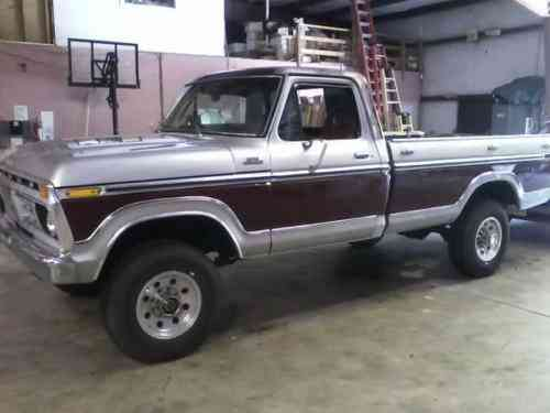 Ford F 250 1979 Ford F250 4x4 Ranger 429 Motor New Exhaust One