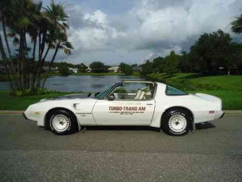 Pontiac Trans Am Pace Car 1980 Pontiac Turbo Trans Am One Owner Cars For Sale