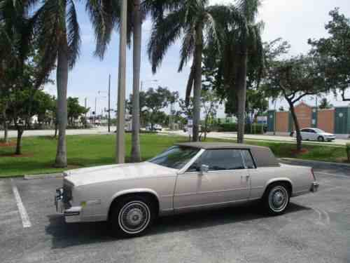 Cadillac Eldorado Eldorado 1984 Cadillac Eldorado Only 82000 One