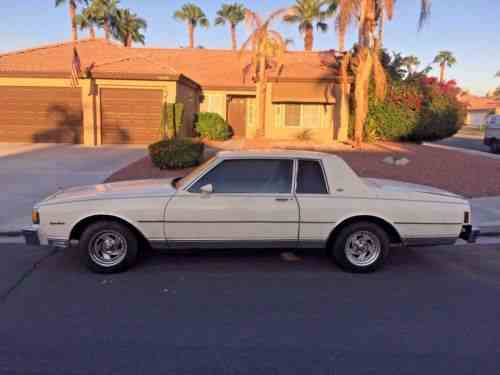 chevrolet caprice 1985 chevy caprice classic 2 door coupe 71 one owner cars for sale chevrolet caprice 1985
