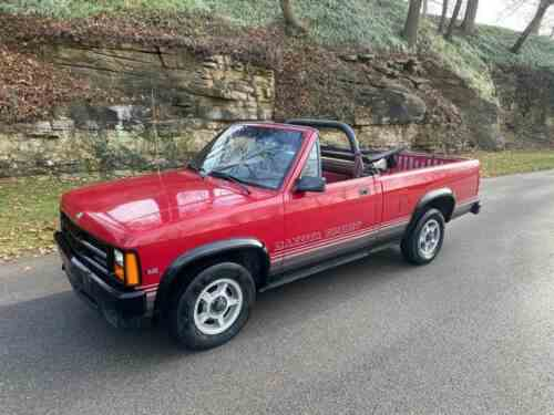 dodge dakota sport 2dr regular cab convertible sb pickup truck one owner cars for sale dodge dakota sport 2dr regular cab convertible sb pickup truck 1989