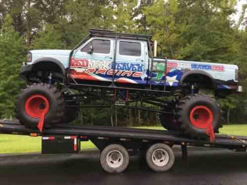Mud Trucks For Sale >> Ford F 350 Monster Mud Truck 4x4 W Big Tex Trailer 1995