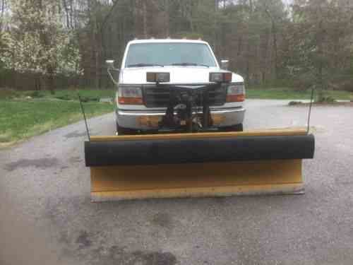 ford f 350 xl 1997 ford f 350 xl with snow plow 95 one owner cars for sale. Black Bedroom Furniture Sets. Home Design Ideas