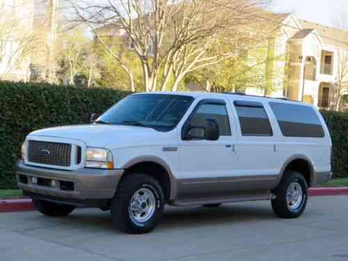 Ford Excursion 7 3l Diesel 4x4 Eddie Bauer Quad Seats 2002 One Owner Cars For Sale
