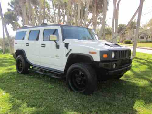 Hummer H2 H2 2003 Hummer H2 White With Grey Leather All One Owner
