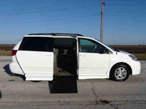 toyota sienna handicap wheelchair van 2004 free and one. Black Bedroom Furniture Sets. Home Design Ideas