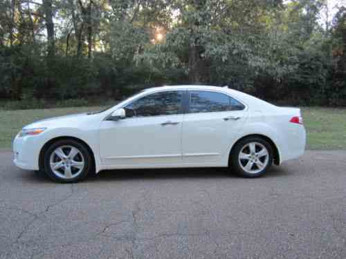 Acura Tsx Base Sedan Door Super Nice Car White With One - Acura tsx for sale by owner