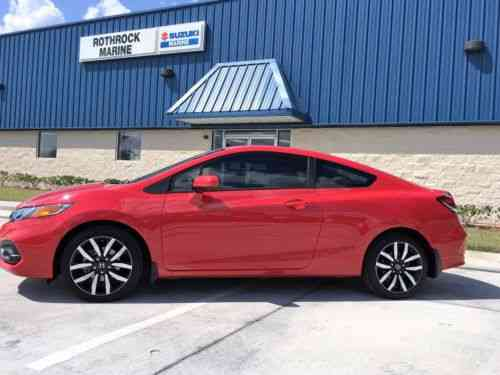 Honda Civic 2015 Honda Civic Ex L Coupe In Rally Red Only One